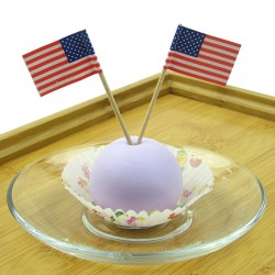 50PCS Mini American Flag Independence Day Banner Cupcake sticks