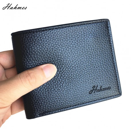 men's PU leather Wallet With coin bag