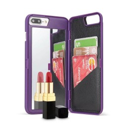 Wallet Makeup Mirror Phone Case